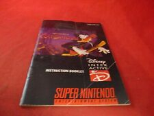 Maui Mallard in Cold Shadow Super Nintendo SNES Instruction Manual Booklet #C1