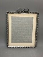 "Large Vintage Metal Rectangular Picture Frame with Easel 12"" x 10"""