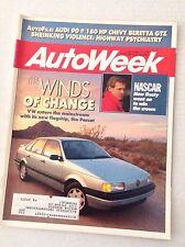 Autoweek Magazine VW Winds Of Change December 11, 1989 020617RH