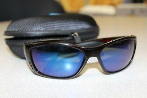 Costa Del Mar Fisch Sunglasses FS-10 Blue Mirror Polarized 580G Tortoise Frame