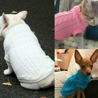 Best Winter Pet Cat/Dog Knitted Sweater Jumper Warm Coat Clothes Puppy P7J9