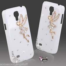 NEW BLING WHITE TINKERBELL ANGEL DIAMANTE CASE 4 SAMSUNG GALAXY S4 MINI i9190