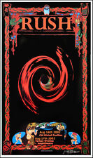 Rush Poster Houston 2002 Original Poster Hand-Signed by Bob Masse