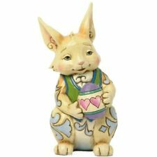 HAPPY EASTER WISHES Bunny with eggs Heartwood Creek Jim Shore Enesco 4047676