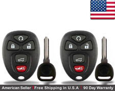 2x New Replacement Keyless Entry Remote Key Fob OUC60221 For Chevy GMC Buick