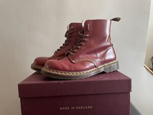 DR MARTENS MADE IN ENGLAND 1460 OXBLOOD BOOTS UK 9