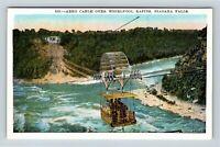 Niagara Falls NY, Aero Cable, Whirlpool, Rapids, Vintage New York Postcard