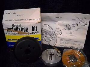 NOS 3523 GRANT STEERING WHEEL HORN Kit Black For 1976-1978 Audi Fox and 4000