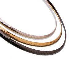 3/4/6/8mm Stainless Steel Silver Gold Black Choker Chain Necklace for Women Men