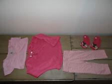 Ensemble rose leggins rayé, pull, gilet, 2 paires de chaussettes Taille 2 ans