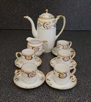 Antique Hand Painted Nippon Tea Set for 5 Excellent Condition