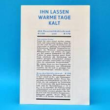 dkk Haushaltskühlschrank H 130 H170 l DDR 1970 | Prospekt Werbung Werbeblatt C