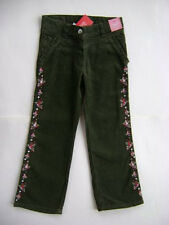 GYMBOREE Girl Detective Green Cotton Corduroy Embroidered Jeans Pants Girls 5
