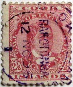 1893-94 COOK ISLANDS #12: Used early 'Queen Makea Takau' issue