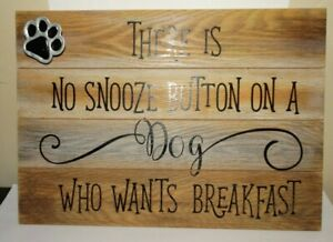 New Ganz Home Decor Wall Hanging 3D Pawprint Wooden Farmhouse Gift Dog Owner Fun