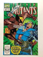 The New Mutants #93 (Marvel Comics, Sep 1990) McFarlane Cable vs Wolverine VF