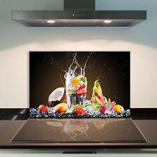 Herdabdeckplatten 80x52 cm Ceranfeld Abdeckung Glas Spritzschutz Obst