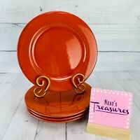 Pier 1 TOSCANA TERRACOTTA Hand Painted Earthenware Italy Salad Lunch Plate Set 4