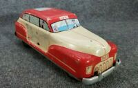 "VINTAGE TIN LITHO WOLVERINE LARGE TOY CAR 13"" PUSH DOWN TO GO (WORKS) 1940s USA"