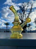 """Hookah Water Pipe Glass 6"""" Color Changing Fumed Glass Genie Base Tobacco Bong"""
