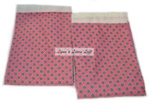 RALPH LAUREN Azalea Pink Foulard STANDARD PILLOWCASES RARE NEW