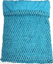 "NEW Girls 11""x9"" Lined Crochet Tutu Top tube girl TURQUOISE Frozen 6-8yrs"