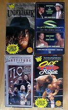 Lot of 4 Vintage WWF WWE Wrestling VHS tapes Undertaker TLC With Free Shipping
