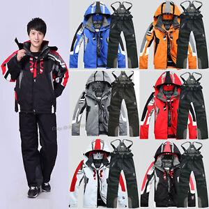 Men's Ski Suit Winter Jacket Skiing Snowboard Snow Suit Pants Waterproof Thicken