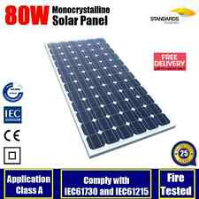80W 12V MONO SOLAR PANEL HOME GENERATOR CARAVAN CAMPING POWER BATTERY CHARGING
