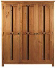 Sweet Dreams Curlew Jackdaw Oak 3 Door Wardrobe Solid Wood Traditional