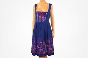Blue Dirndl dress Bavarian dress Oktoberfest dress Cottagecore dress Size M
