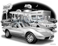 CORVETTE 1975 STINGRAY COUPE MUSCLE CAR ART PRINT #1069    **FREE USA SHIPPING**