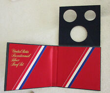 Empty Box For 1976 S PROOF 3 Coin Bicentennial 40% SILVER Set With COA, No Coins