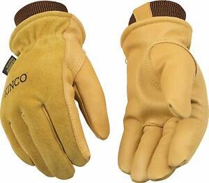 Kinco 94HK-M Men's Lined Grain Suede Pigskin Gloves, Heat Keep Lining, Medium