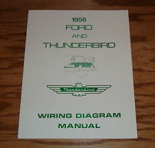1956 Ford & Thunderbird Wiring Diagram Manual Brochure 56