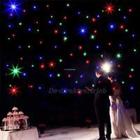 3x2m 108pcs LED RGB DMX lampada stella Tenda Natale Festival Fata decorazione