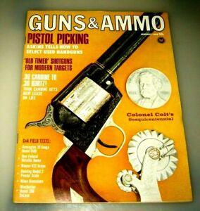 GUNS & AMMO Magazine January 1966 - Vintage Original Gun magazine