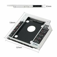 """2.5"""" Inch SATA Hard Drive Tray Caddy w/Screws For Universal Laptop 9.5mm/12.7mm"""