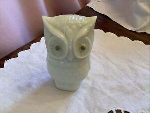 Vintage Owl Shaped Glass Avon Empty Cream Perfume Pot Roses Roses Perfume Cream