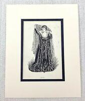 1889 Antico Stampa Olivia Dodicesimo Notte Costume William Shakespeare Carattere