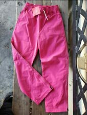 HANNA ANDERSSON Girls SZ 140 / 10Y NWT PINK Jersey lined wind rain resist pants