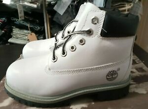 14712M Timberland Classic Boot (PS) Pre-School Kids Shoes - White