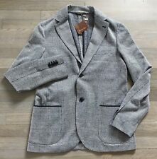 2,165$ Loro Piana Blue Sweater Jacket Size EU 52 or US 42 Made in Italy