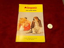 RARE OLD VTG 1960's SERGEANT'S PET CARE BOOK, COMPLETE, GOOD CONDITION