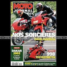 MOTO JOURNAL N°1500 DUCATI 900 MHE 998 TESTASTRETTA GHEZZI BRIAN SUPERTWIN 2001