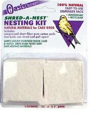 KORDON OASIS BIRD SHRED A NEST 12 PACK NATURAL COTTON FIBER PAD FREE SHIP TO USA