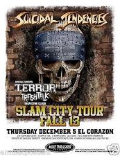 SUICIDAL TENDENCIES /TERROR /TRASH TALK 2013 SEATTLE CONCERT TOUR POSTER - Punk