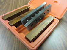 """1/2"""" thick precision steel parallel set 4 pairs/set 0.0002"""" #703A-755-new"""