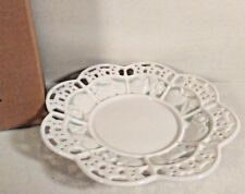 """Avon Candle Potpourri Holder 7.5"""" Plate Lace Gift Collection New Original Box"""