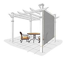 Easy2Hang 6x8ft Grey Adjustable Exterior Privacy Side Sun Shade Panel for Patio